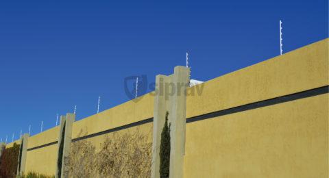 Cercas Eléctricas sobre muro.
